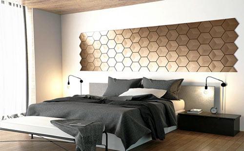 Panele 3D na ścianę na w sypialni