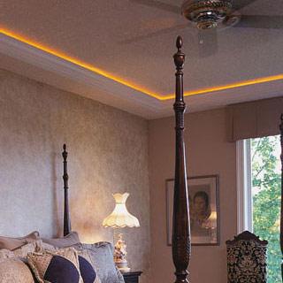 Listwa oświetleniowa LO18 w sypialni