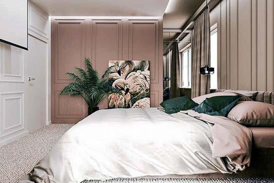 Przytulna mała sypialnia aranżacje