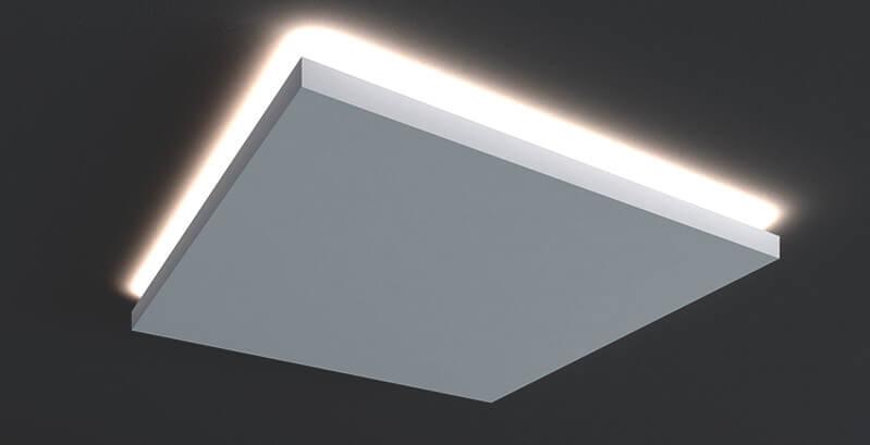 rozety sufitowe z oświetleniem cena - Duża rozeta sufitowa do lampy
