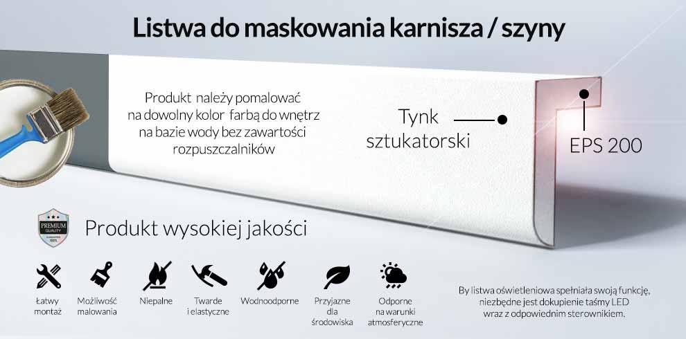 Maskownica karnisza Decor System