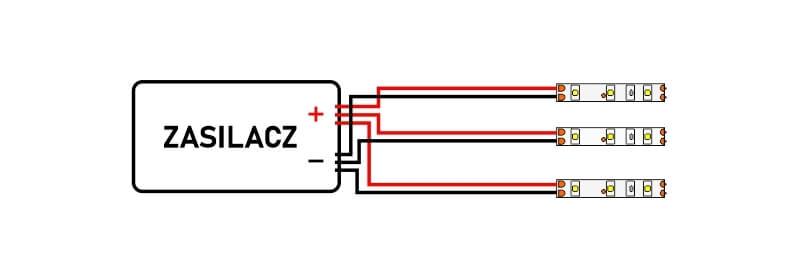 Jak łączyć taśmy LED szeregowo czy równolegle2