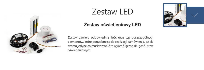 zestaw oświetleniowy LED