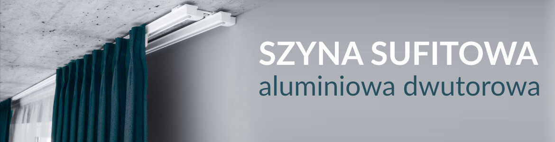 Szyna sufitowa aluminiowa dwutorowa ZS