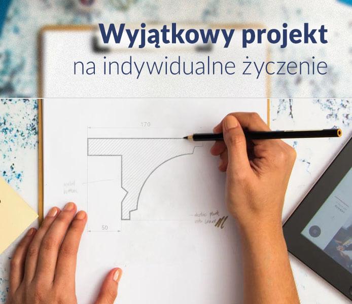 Projekt wzoru sztukaterii według indywidualnego zamówienia