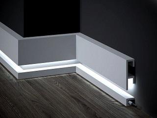 Listwy Przypodłogowe LED z nowoczesnym oświetleniem