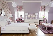 liliowo - różowy pokój dla dziewczynki