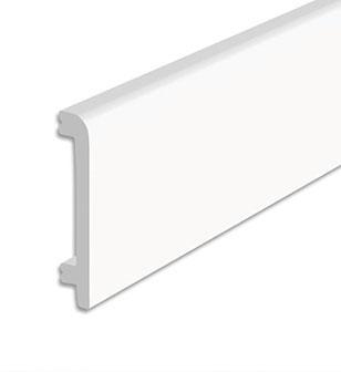 Listwa podłogowa biała o wysokości 10 cm